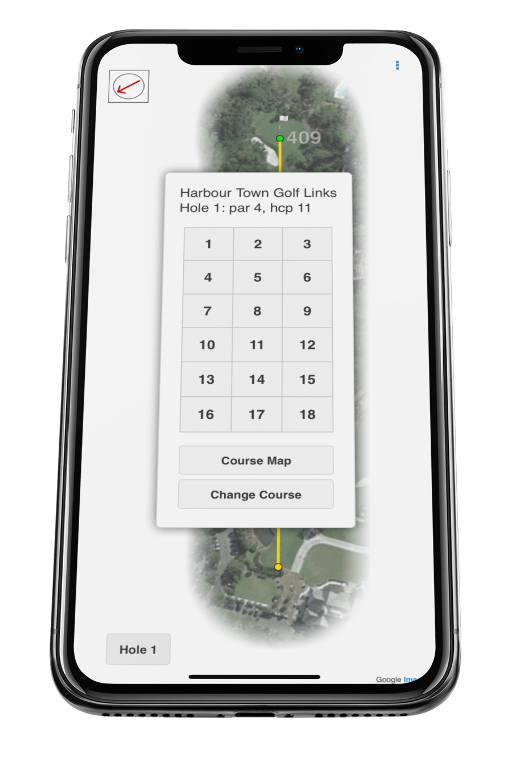 graphic about Printable Yardage Books called BlueGolf - Yardage Guide